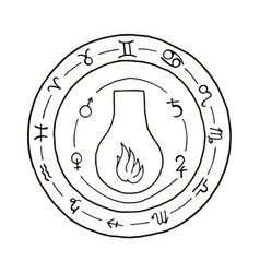 masonic vial emblem icon logo vector image