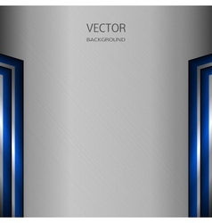 Metal background with blue elements vector image