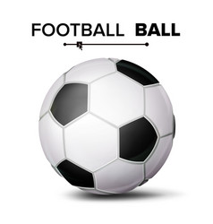 Realistic football ball classic soccer vector