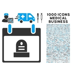 Rip monument calendar day icon with 1000 medical vector
