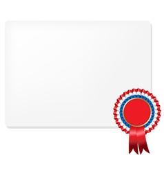 Rosette Certificate vector image