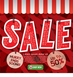 Sale Up To 50 Percent Banner vector image vector image