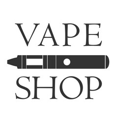 Vape shop badge and label on white background vector