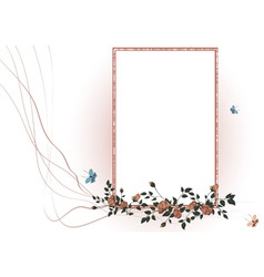 vector illustraition of elegant floral frame vector image vector image