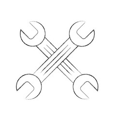 Wrenchs crossed isolated icon vector