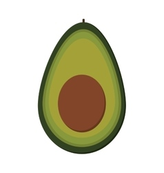 Avocato half icon vector