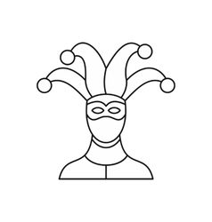 Jester icon outline style vector image