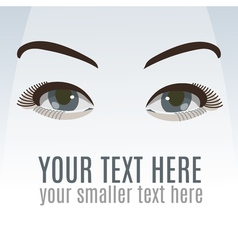 Sexy eyes with makeup vector image
