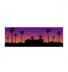 villa background vector image