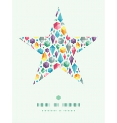 Hanging geometric shapes star decor pattern vector