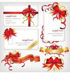 ribbons borders vector image