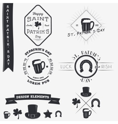 Saint patricks day set of typographic badges vector