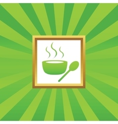 Hot soup picture icon vector
