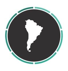 South america computer symbol vector