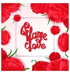 Flame of love poster vector