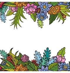 Greeting card with flowers can be used as vector image