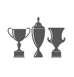 Abstract trophies vector image