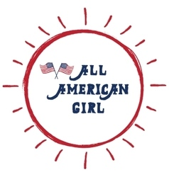 All american girl vector