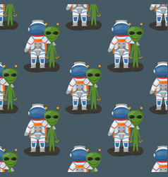 Astronauts in space seamless pattern vector