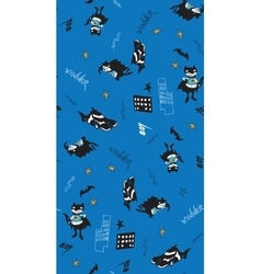 Batman fun cartoon boy seamless pattern vector image