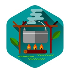 Camping summer outdoor activity concept equipment vector image