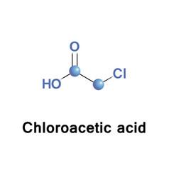 Chloroacetic acid molecule vector