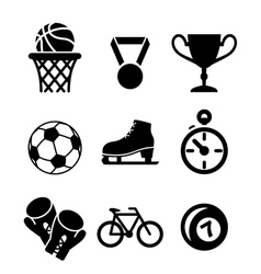 Collection of sports icons vector image vector image