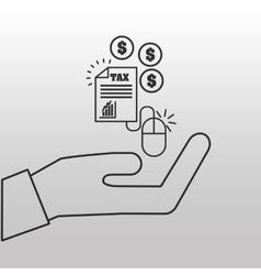Concept taxes online money icon vector