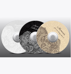Elegant cd covers concept set vector