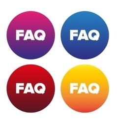 FAQ sign icon vector image