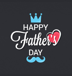 Fathers day logo background vector