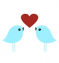 love birds vector image