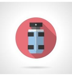 Male deodorant flat color round icon vector image
