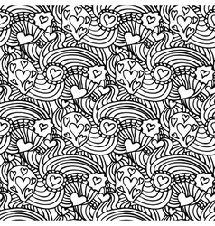 Monochrome Zentangle Seamless Pattern vector image