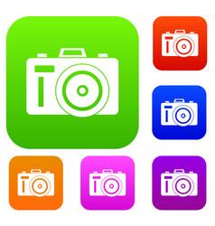Photocamera set collection vector