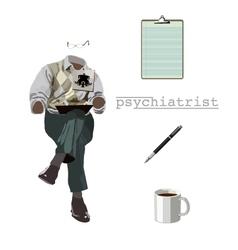 Psychiatrist vector