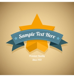 Retro label with gold star vector