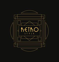 Retro style logo luxury vintage geometric vector
