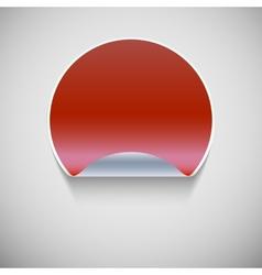 Round red sticker vector image