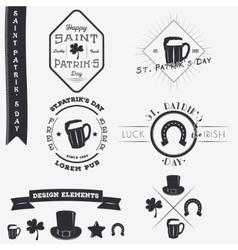 Saint Patricks Day Set of Typographic Badges vector image vector image