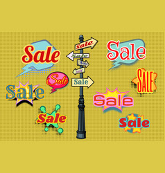 Sales background pole sign vector