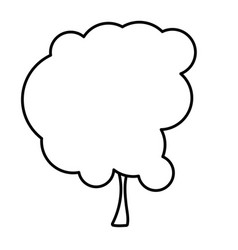 Sketch silhouette tree nature icon vector