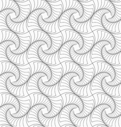 Slim gray striped twisted squares vector image vector image