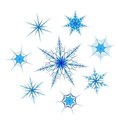 Snowflakes set vector image vector image