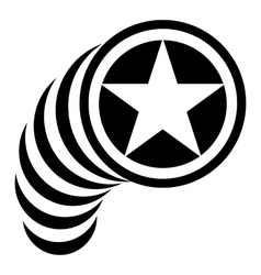 Star in circle icon simple style vector