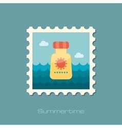 Sunscreen flat stamp vector