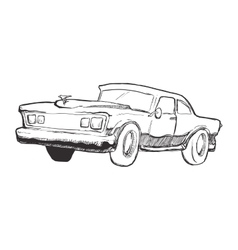 Sketch car icon transportation design vector