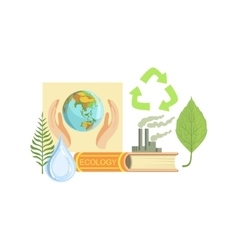 Ecology class set of objects vector