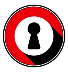 Red information icon - white keyhole vector