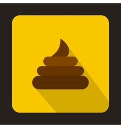 Poop icon in flat style vector
